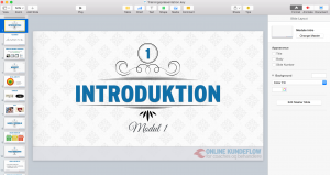 Online kurser - keynote